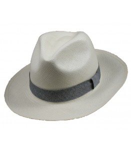 Classic Panama Hat Denim Band
