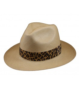 Classic Panama Hat Animal Printed Band