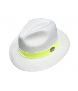 Classic White Panama Fluo Band