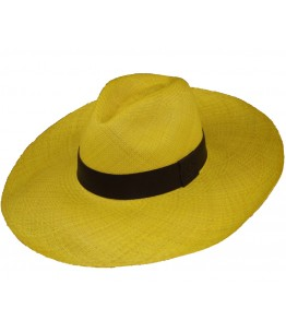 Yellow Long Brim Panama