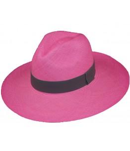 Pink Long Brim Panama