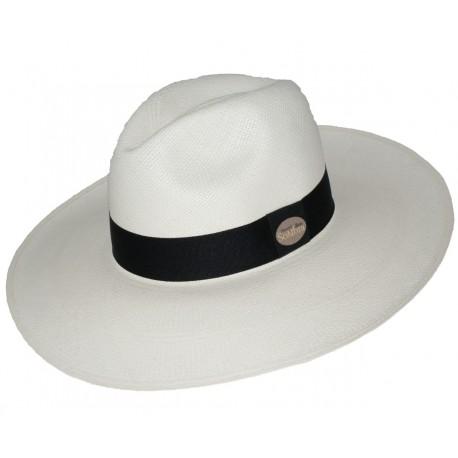 Sombrero Panama Clásico Blanco Ala Larga 9bef49438253