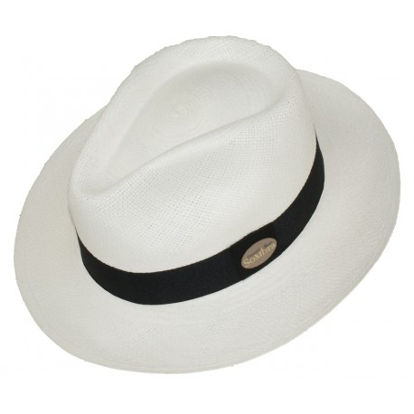 Sombrero Panama Copa Aguacate Blanco